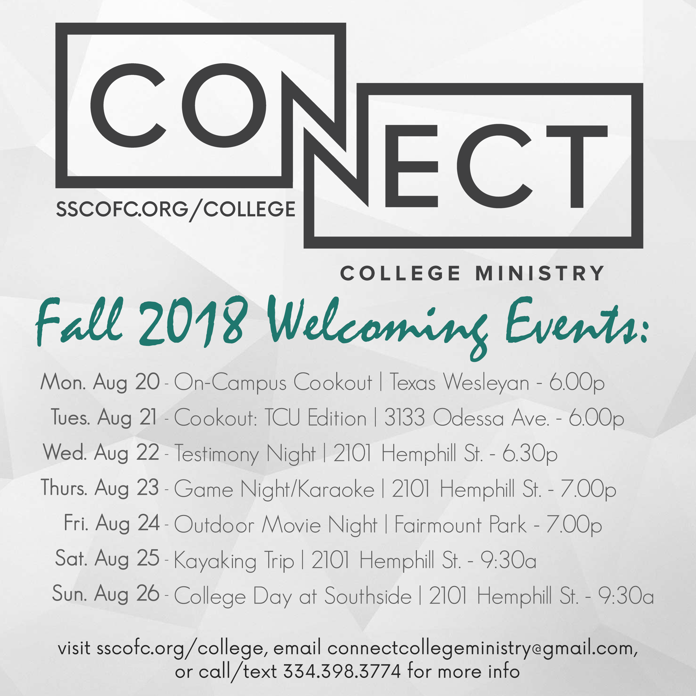 Welcome Week 2018 Square